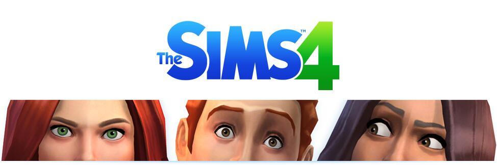 Les Sims 4, le logo et la première image