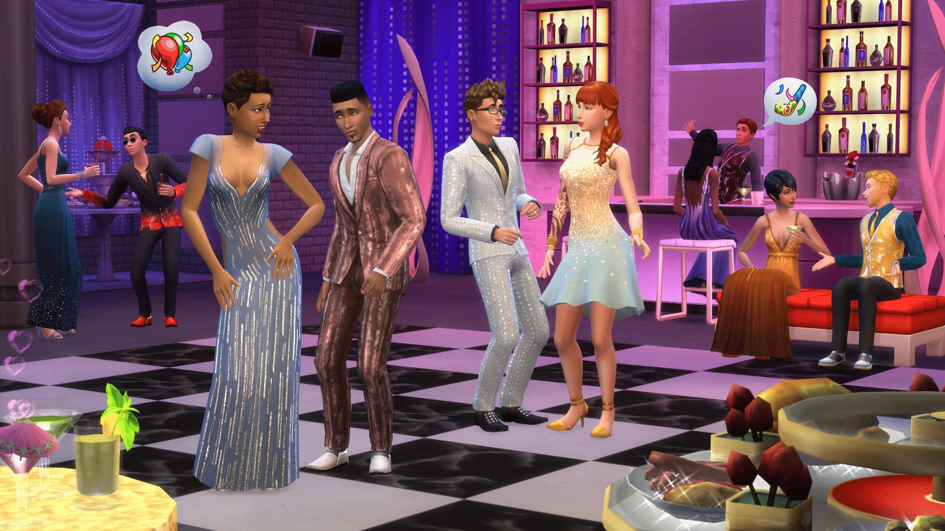 Nouvelles images Sims 4 Soirées de Luxe