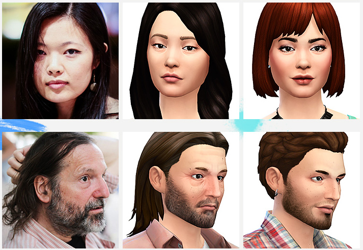 Reproduction visage sims 4