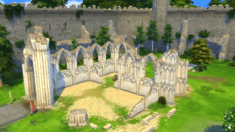 Ruines Windenburg sims 4 vivre ensemble