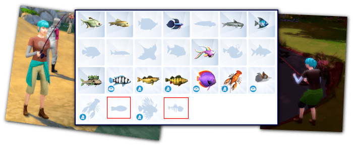 Collections poissons sims 4