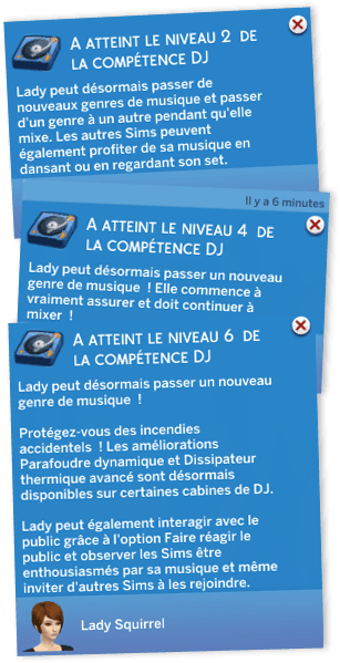 Compétence DJ Sims 4 Vivre Ensemble