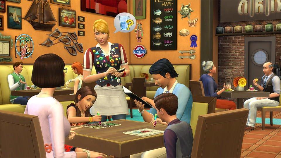 Les Sims 4 partent au restaurant le 7 Juin