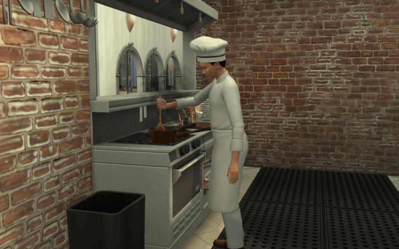 Cuisinier restaurant sims 4