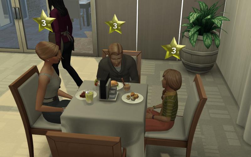 Service restaurant sims 4