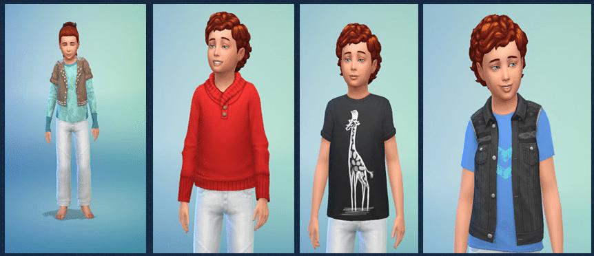 Tenues Sims 4 Chambre d'enfants