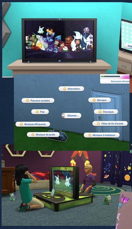 Radio sims 4 chambre d'enfants