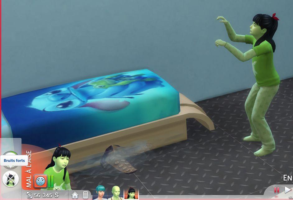 Zoom sur le monstre sous le lit