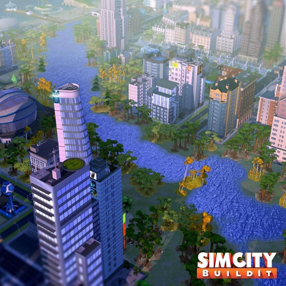 Dessinez des fleuves dans Simcity BuildIt
