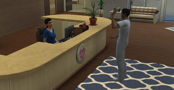 Accueil Hôpital Sims 4 Au Travail