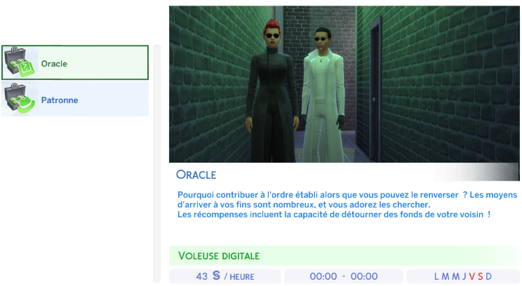 Oracle sims 4