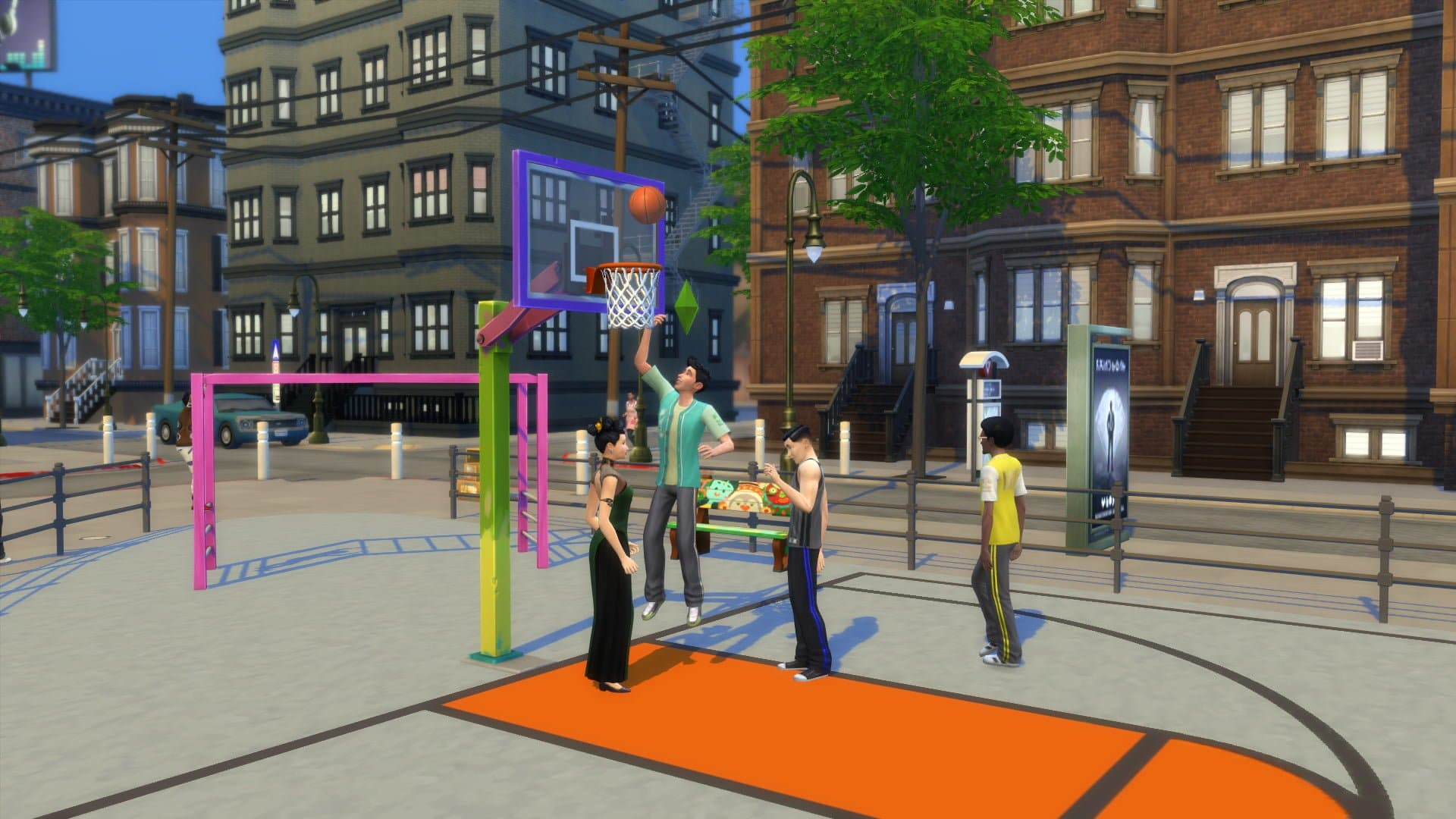 Basket sims 4 vie citadine
