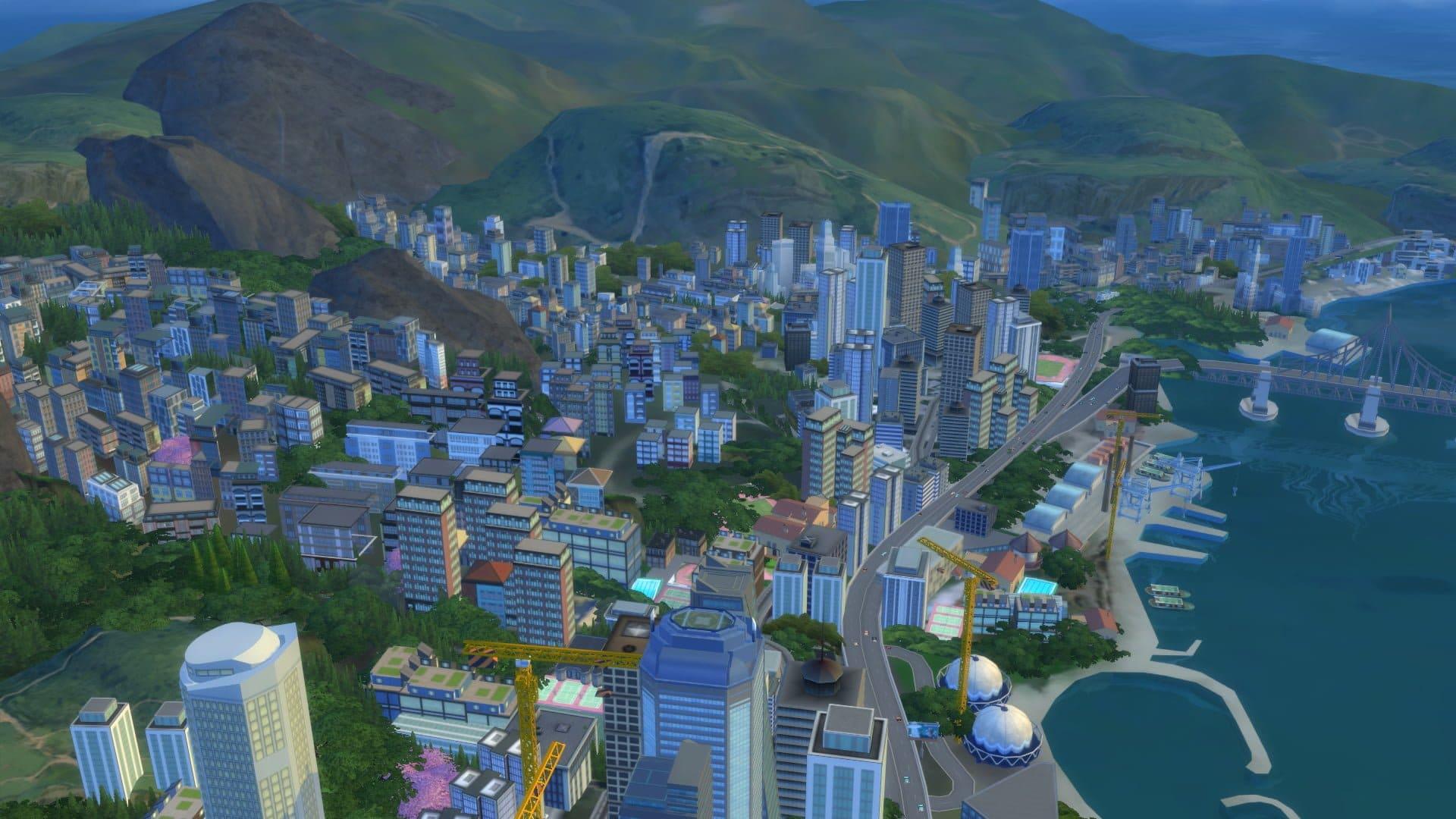 San Myshuno sims 4 vie citadine