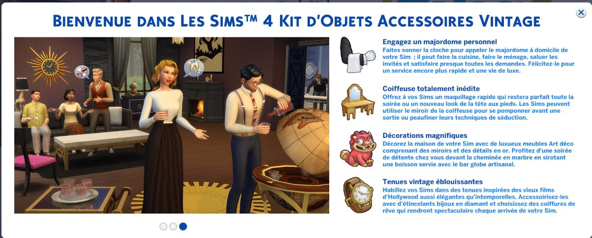 Les Sims 4 Accessoires vintage