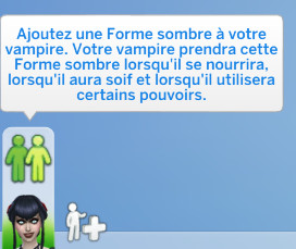 Forme sombre vampires sims 4