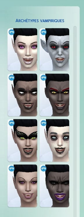 Archétypes vampiriques sims 4