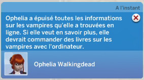 Informations sur les vampires sims 4