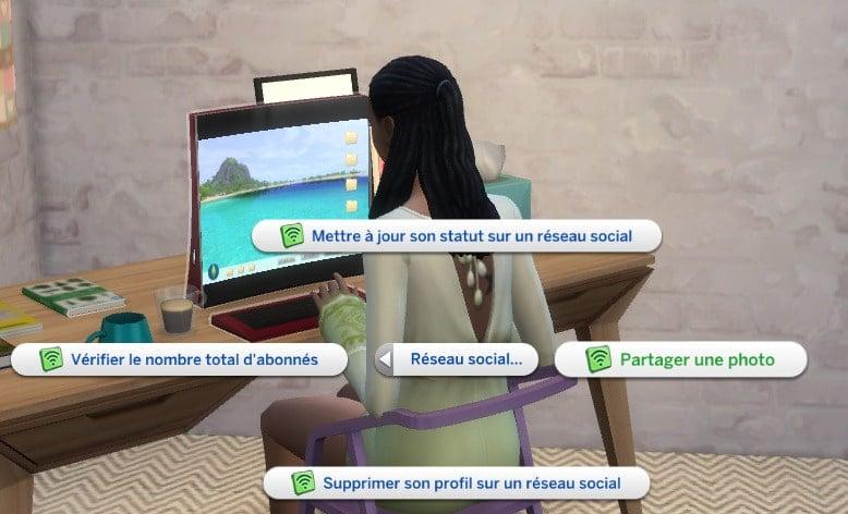 Partager photo réseaux sociaux sims 4 Vie Citadine