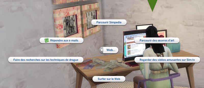 Envoyer email réseaux sociaux sims 4 Vie Citadine