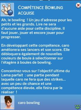 Compétence bowling sims 4