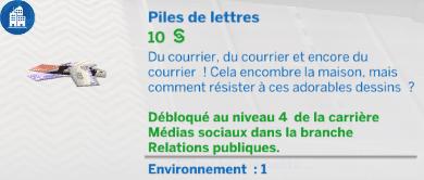 Pile de lettre sims 4