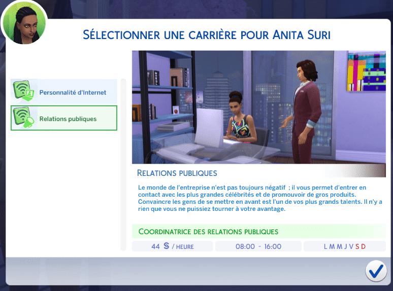 Relations publiques Sims 4 Vie Citadine