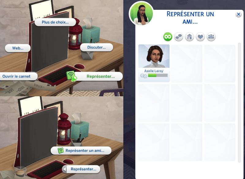 Représenter ami Sims 4 Vie Citadine