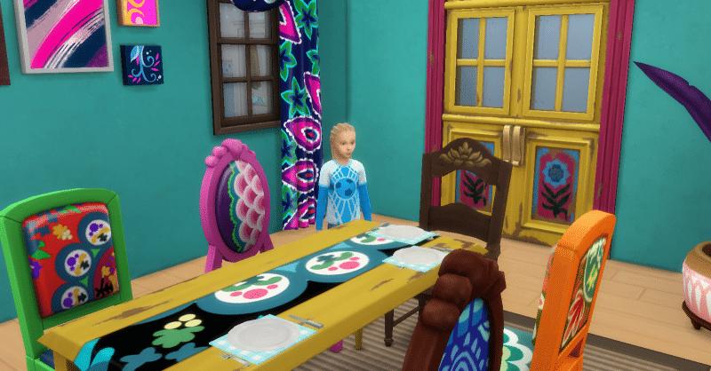 Mettre la table enfant sims 4 être parents