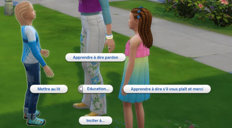 Compétence éducation sims 4 être parents