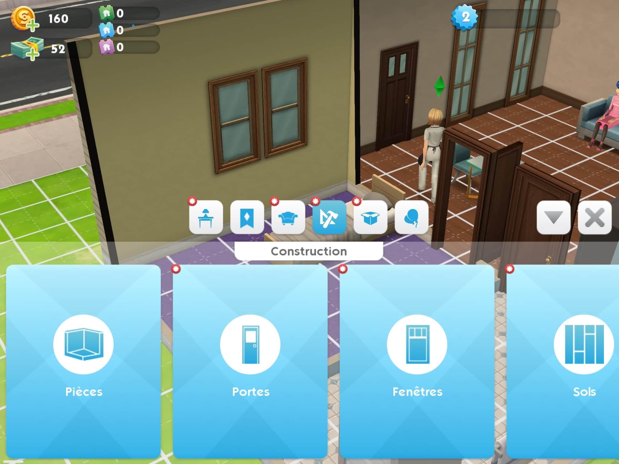 Construction Les Sims Mobile