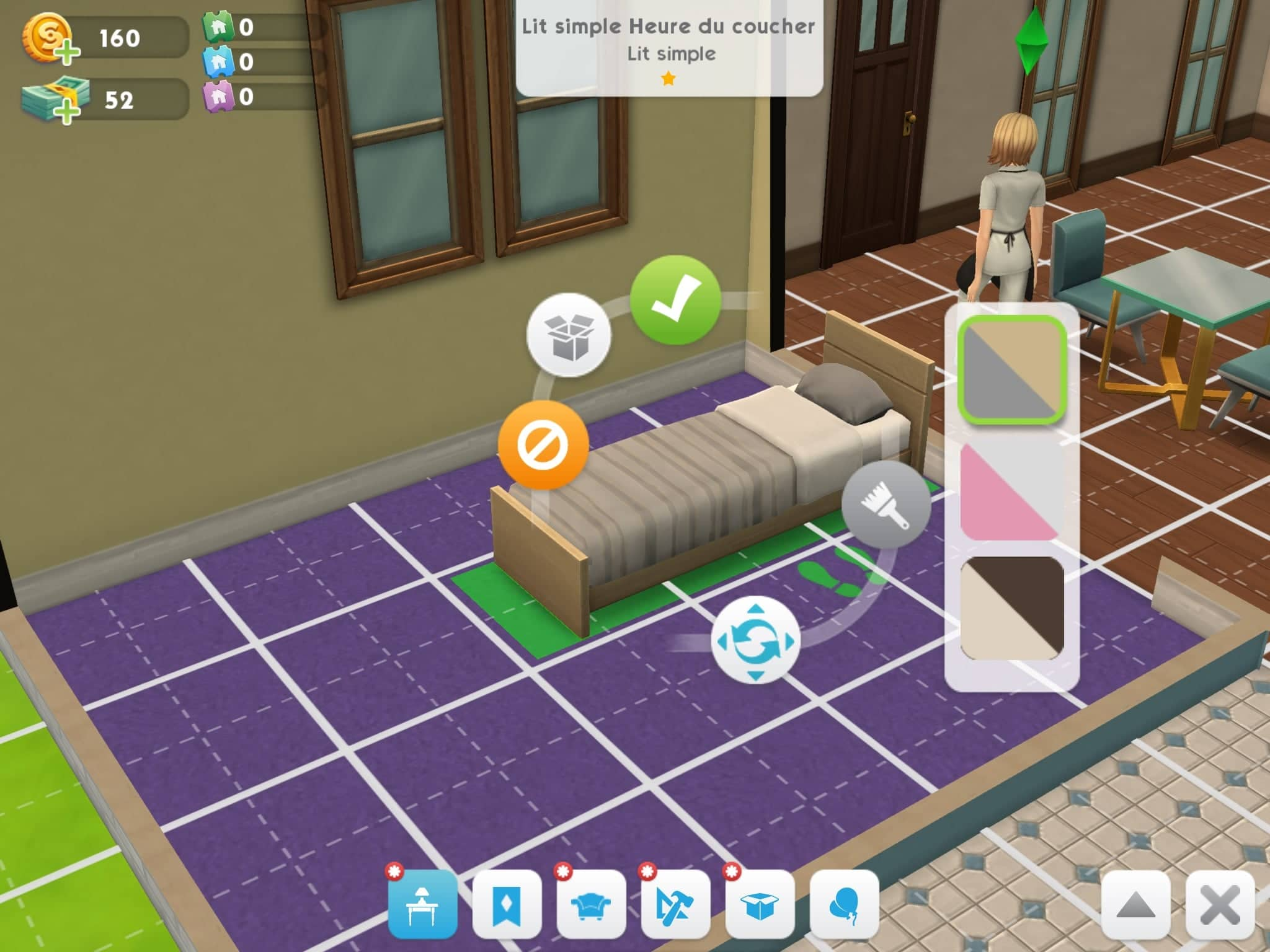 Mode achat Les Sims Mobile
