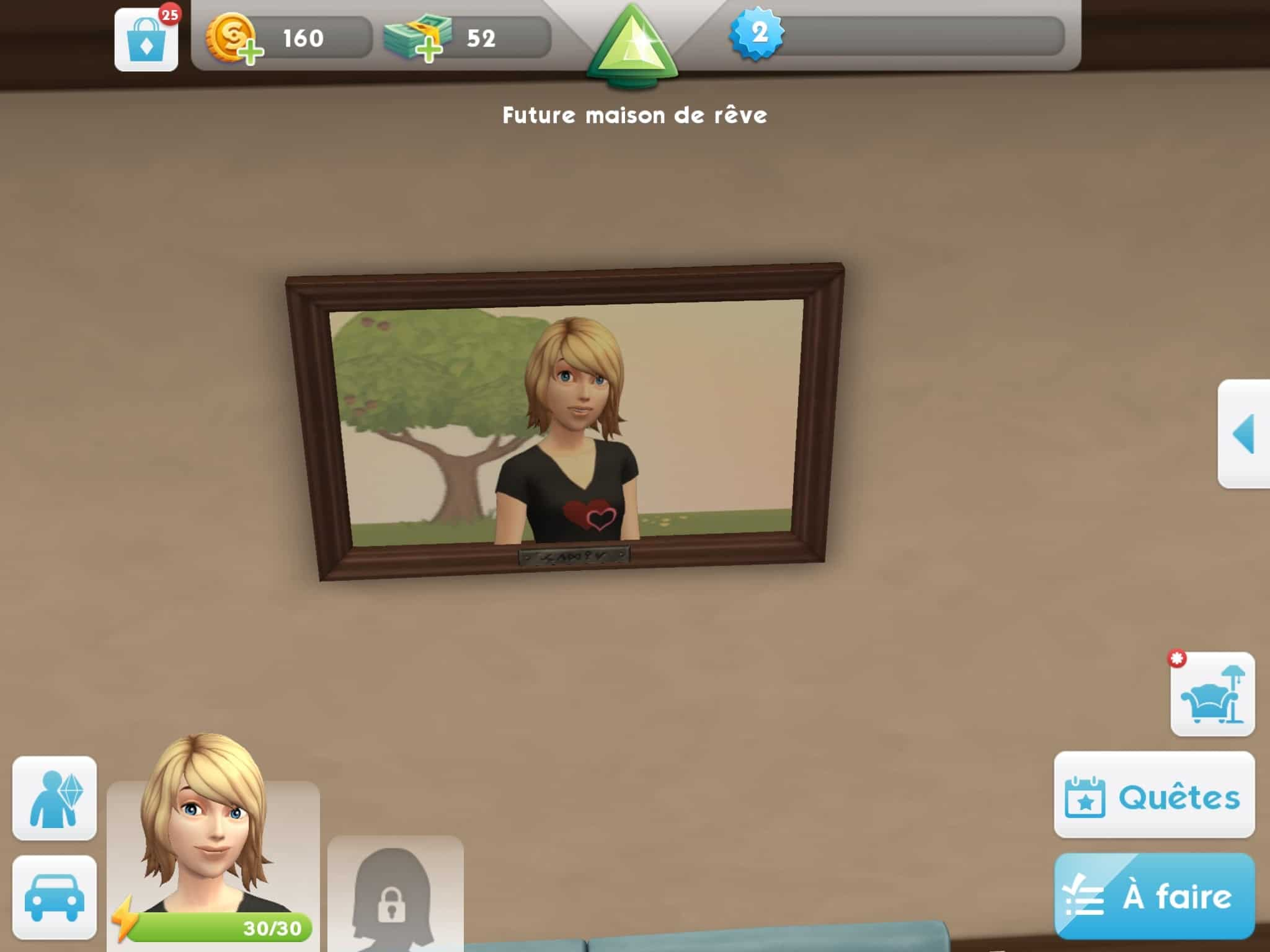 Cadre famille Les Sims Mobile