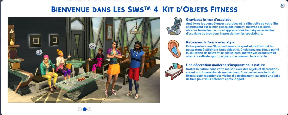 Les Sims 4 Fitness