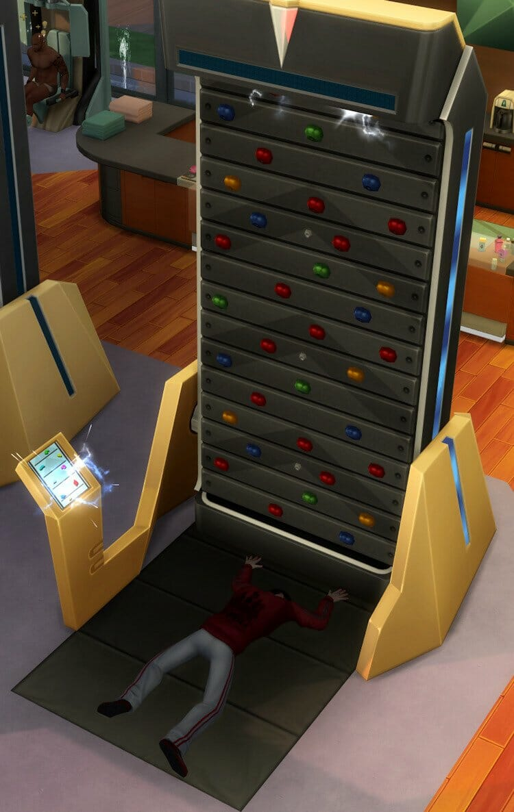 Panne mur escalade sims 4 fitness