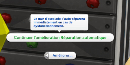 Réparation automatique mur escalade sims 4 fitness