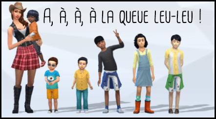 A, à, à, à la queue leu-leu !