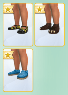 Chaussures Sims 4 Bambins