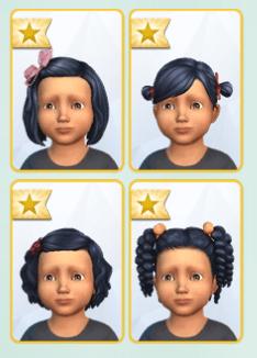Coiffures Sims 4 Bambins