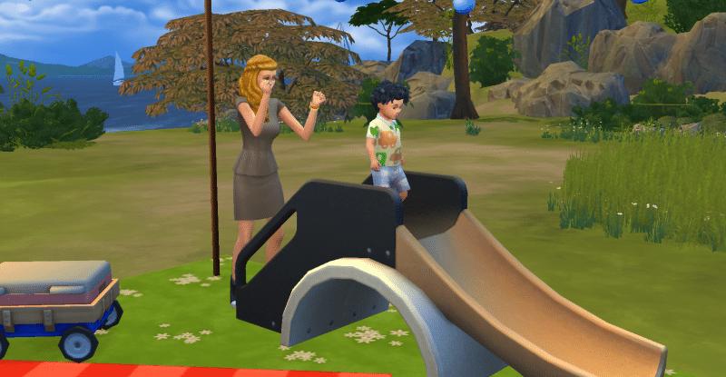 Tobogan Sims 4 Bambins