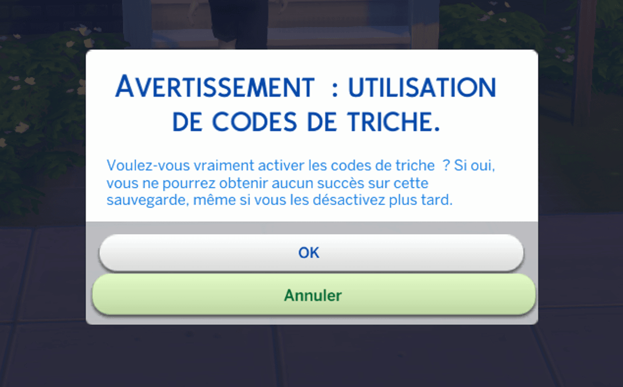 Utilisation code triche sims 4 ps4 xbox one