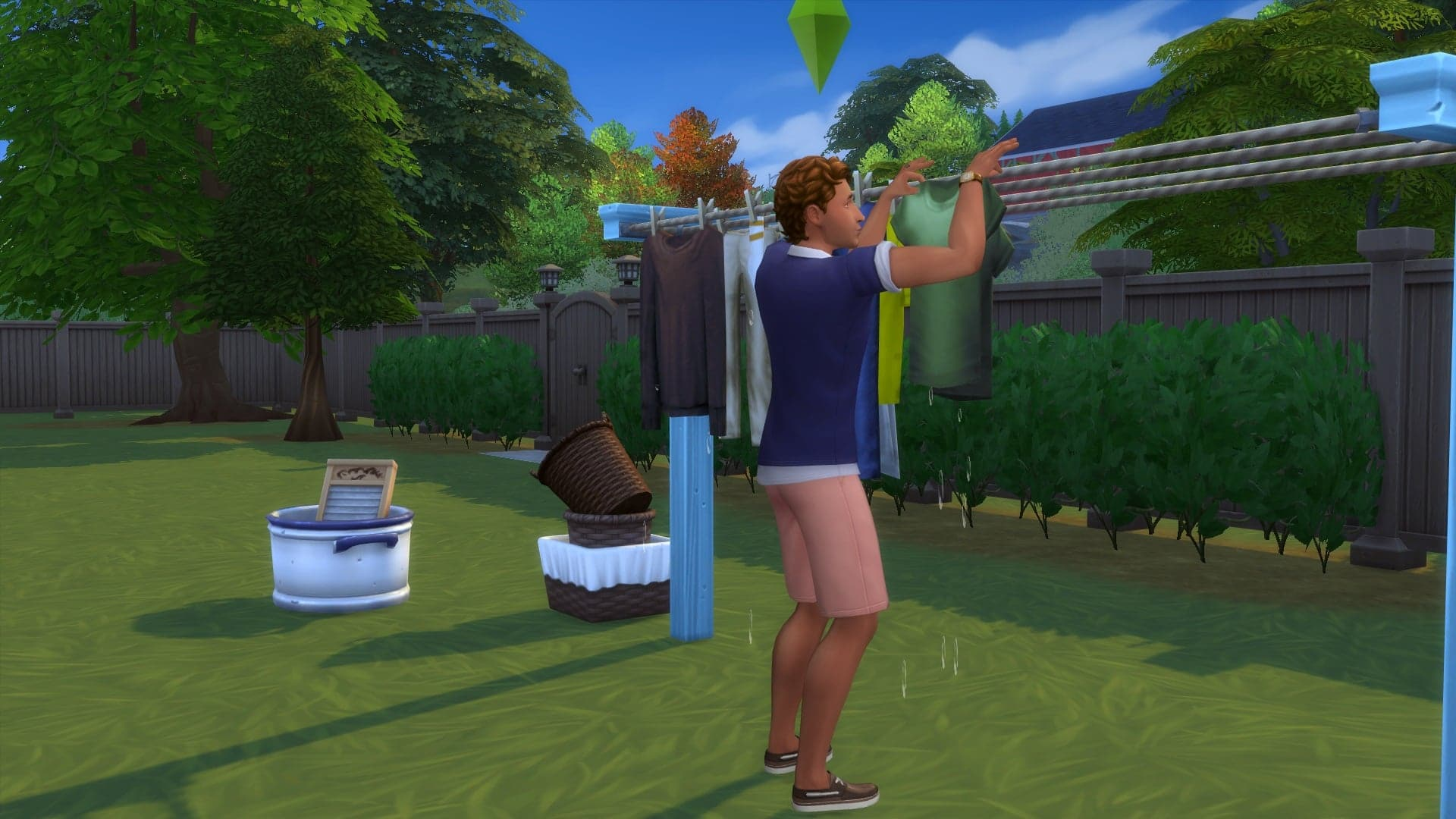 Sécher linge sims 4 jour de lessive