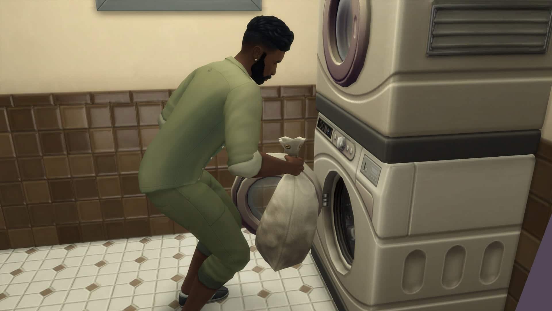 Faire la lessive sims 4