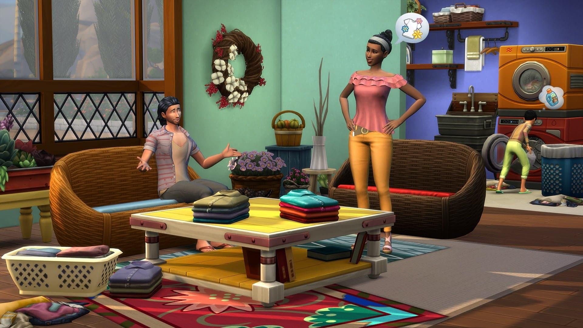 Les Sims 4 Jour de Lessive arrive le 16 Janvier