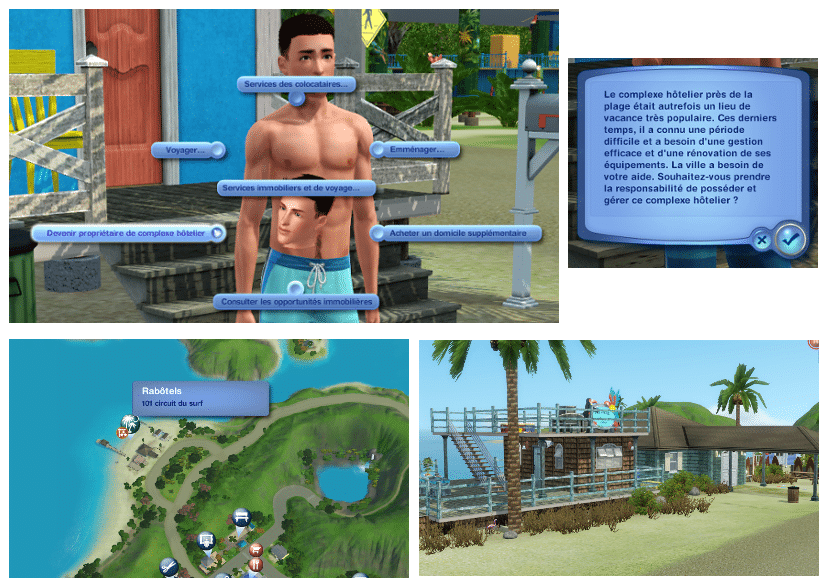 Complexe hôtelier sims 3 ile de rêve