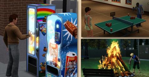 Distributeur Sims 3 University