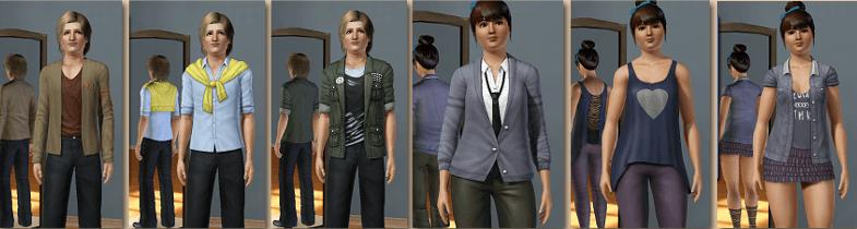 Tenues Sims 3 University