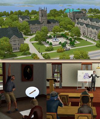 Campus Sims 3 University