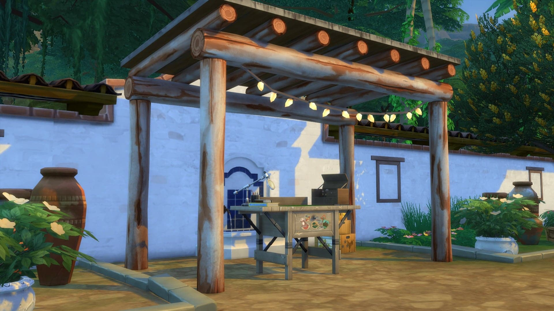 Établi poterie Sims 4 Dans la jungle
