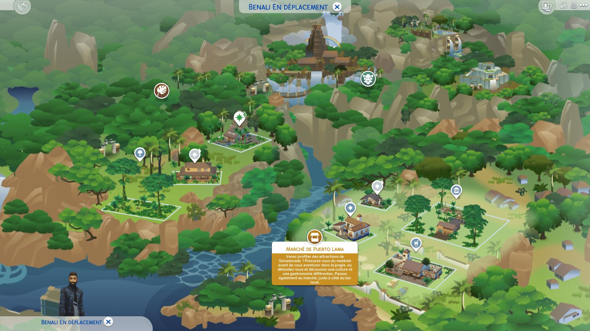 Carte Selvadorada Sims 4 Dans la Jungle