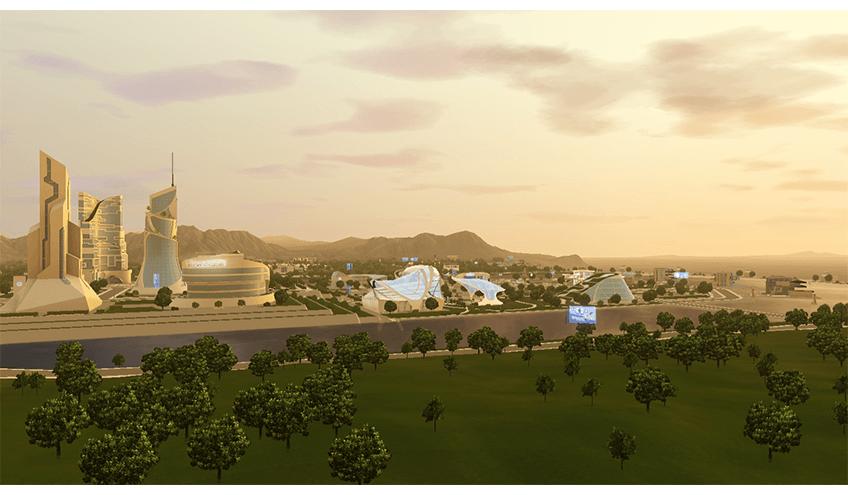 Oasis Landing sims 3 en route vers le futur